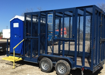 Combination Trash and Porta Potty Trailer Rentals